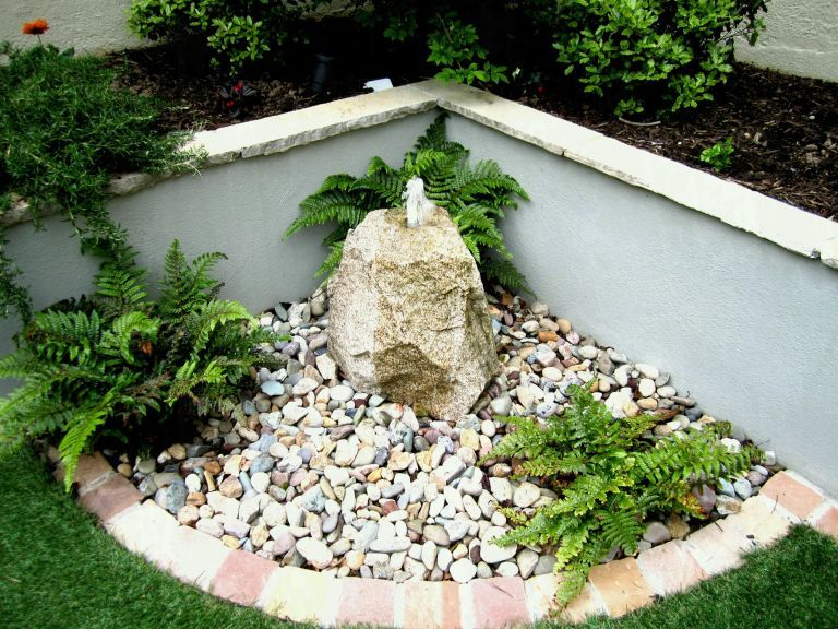Simple Stone Garden Design | Small gardens, Garden design, Garden .