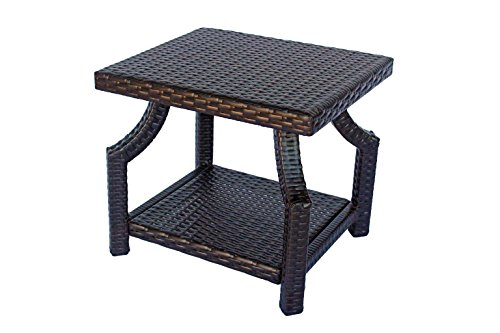 Amazon.com : DOLA Small Patio Side Table Dark Brown Wicker 18 x .