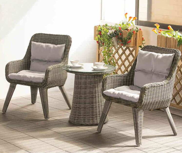 Factory direct sale Wicker Patio Furniture Lounge Chair Chat Set .