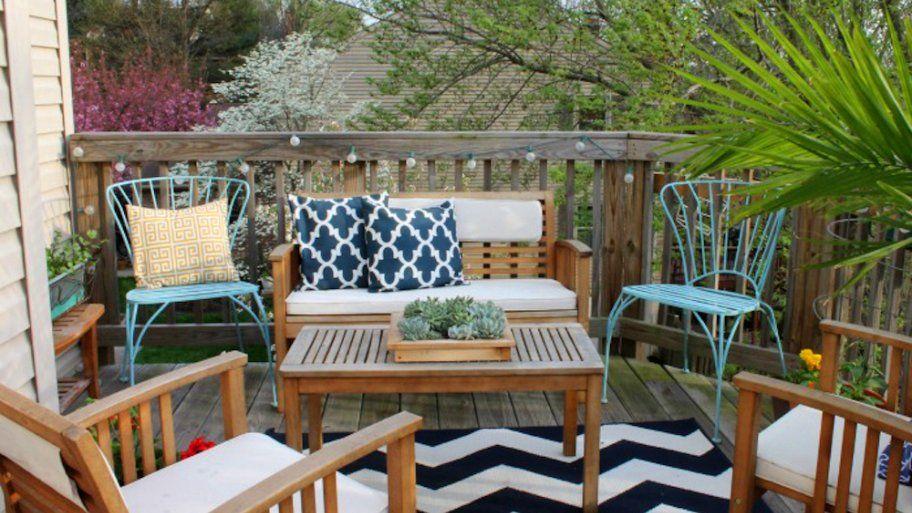 How to Decorate a Small Patio | Outdoor patio decor, Balcony decor .