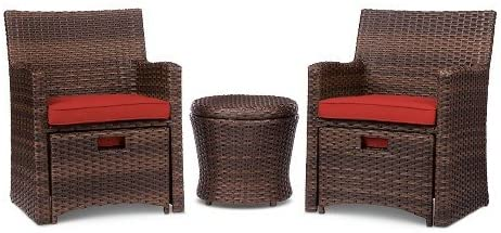 Amazon.com: Halsted 5-Piece Wicker Small Space Patio Furniture Set .