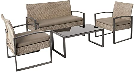Amazon.com : Small patio furniture set wicker loveseat outside .