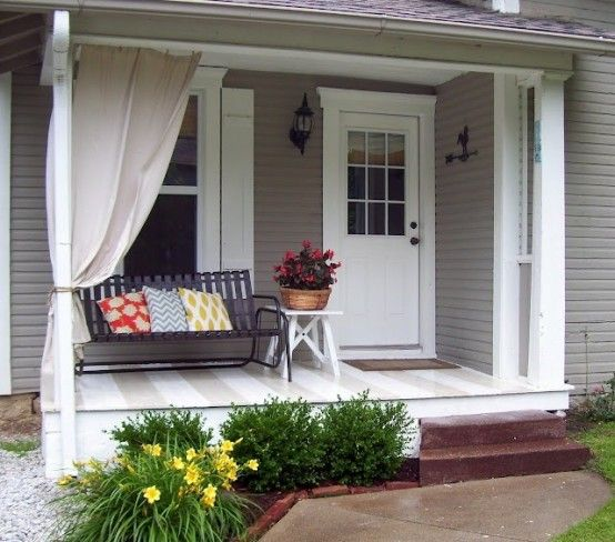 47 Cool Small Front Porch Design Ideas | Front porch decorating .