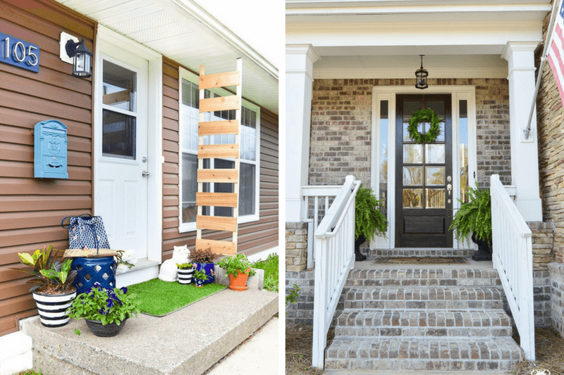 12 Gorgeous Small Front Porch Ideas - Love & Renovatio