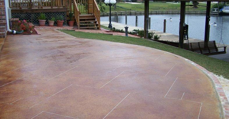 Concrete patio paint or stain, home improvement pathway ideas .