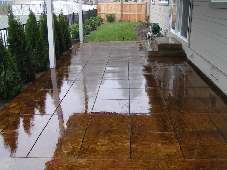 Acid Stained Concrete Pat