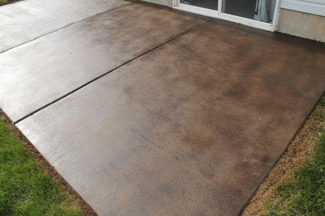 How To Stain A Concrete Patio   Patio flooring, Concrete patio .