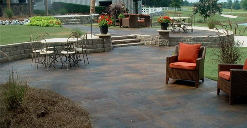 Stained Concrete – All Pro Decks and Pati