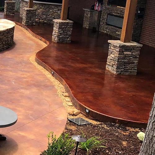 Stained Concrete Patio - Custom Concrete Creatio