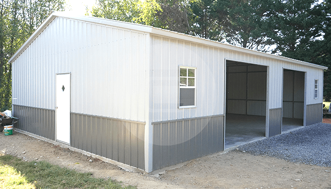 28x41 Side Entry Metal Garage | 28x41 Steel Garage Pric