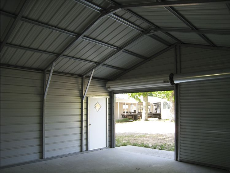 See Inside A Metal Garage | Portable carport, Metal garages, Metal .