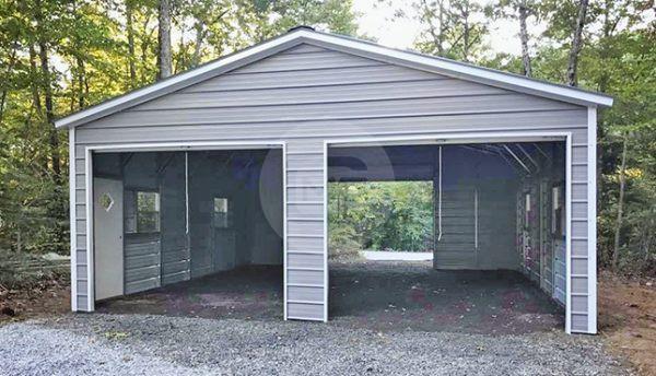 24x30 Enclosed Steel Garage | 24x30 Metal Gara