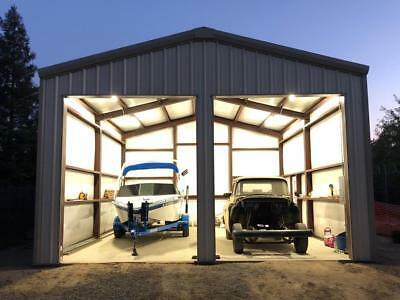 25'x25'x10' Steel Garage Building Kit | eB