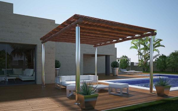 Stainless steel pergolas - Apartment Decorati