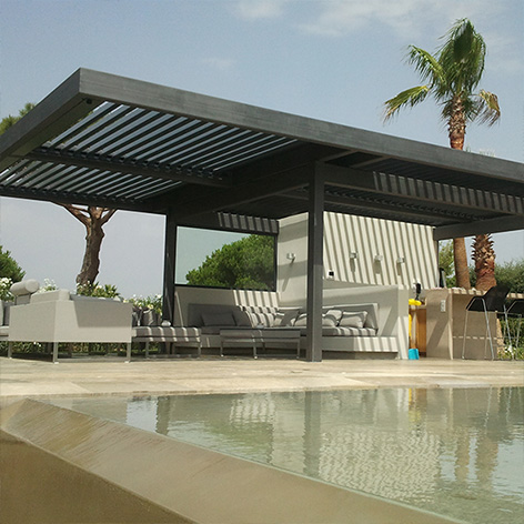 SOLISYSTEME - bioclimatic pergolas with steel structu