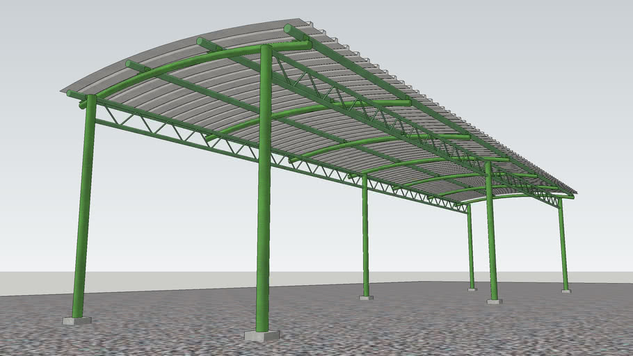 Structural Steel Shed | 3D Warehou