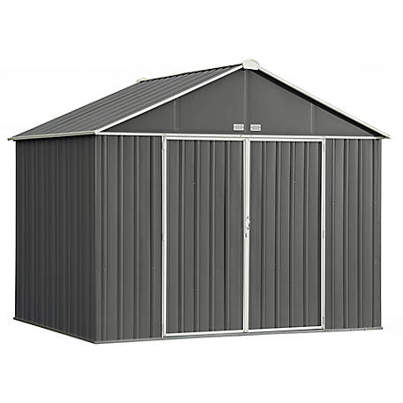 Arrow EZEE Shed Steel Storage 10 x 8 ft. Galvanized Extra High .