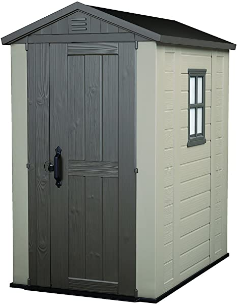 Amazon.com : Keter Factor 4x6 Foot Large Resin Outdoor Shed with .