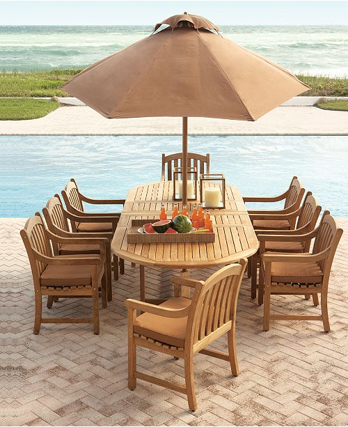 Furniture Bristol Teak Outdoor Dining Collection, Created for .