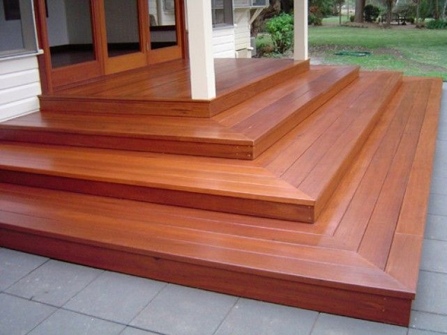 Timber Decking Steps | Deck stairs, Deck steps, Patio ste
