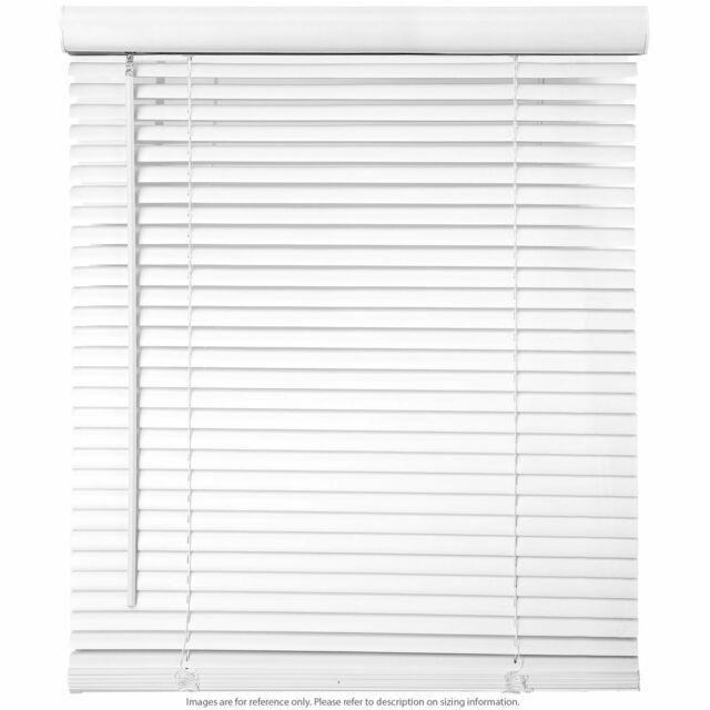 "Window Blinds - 35"" Wide White Horizontal Venetian Blinds 64 ."