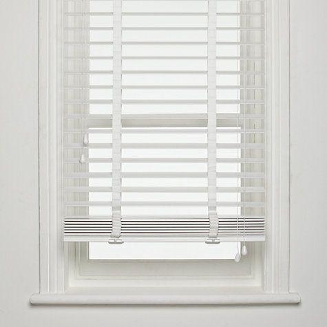 Buy John Lewis FSC Wooden Venetian Blinds, 50mm Online at .