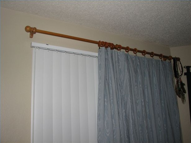 How to Hang Curtains With Vertical Blinds   Curtains over blinds .