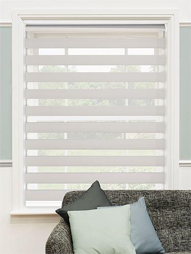 Elegant Enjoy Vision Soft Grey Roller Vision Blinds or Zebra .