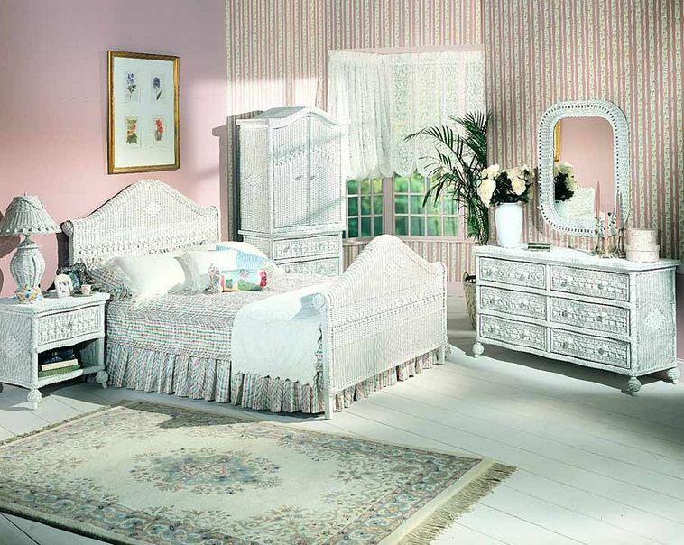White Wicker room. Obscure Object's Bedroom) | Wicker bedroom .