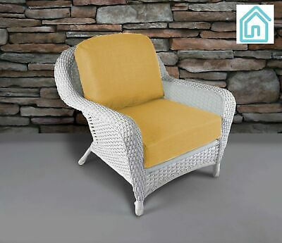 Outdoor Chair All Weather White Resin Wicker Patio Furniture 6 .