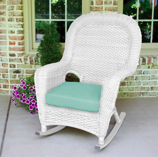 White Wicker Outdoor Rocking Chair Garden Patio Furniture Tortuga .