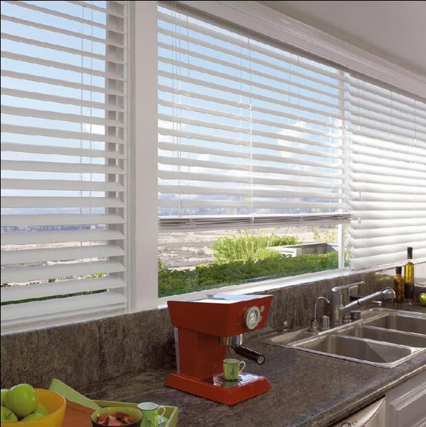 FREE SHIPPING WHITE WOOD WOODEN VENETIAN BLINDS REAL WOOD WITH .