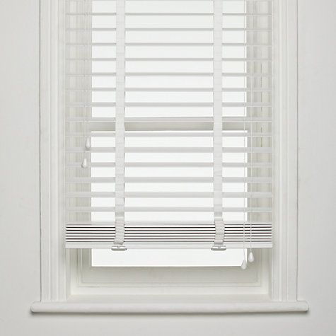 Buy John Lewis FSC Wooden Venetian Blinds, 50mm Online at .