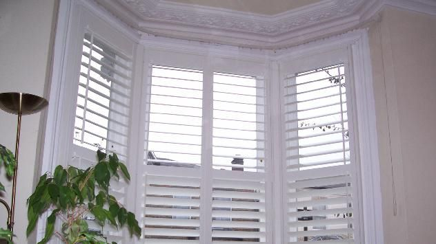 White wooden Venetian blinds for our bay windows? | White wooden .