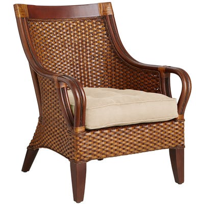 Temani Brown Wicker Chair | Pier