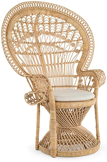 Amazon.com: KOUBOO Pecock Grand Peacock Chair in Rattan with Seat .