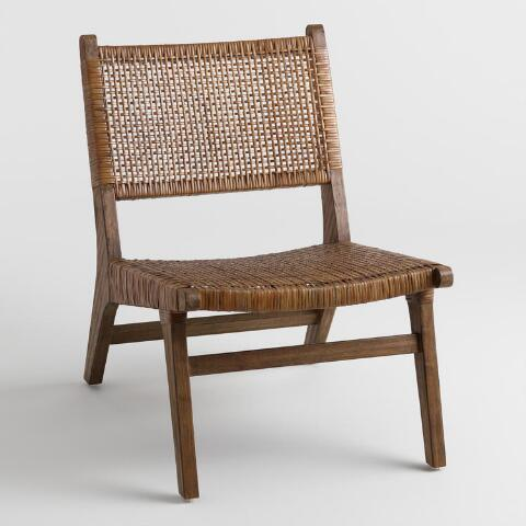 Dark Brown Cane Gunnar Chair | World Mark