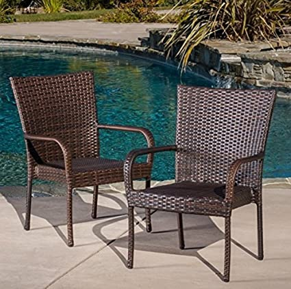 Amazon.com : Best Selling Outdoor Wicker Chairs, 2-Pack : Outdoor .
