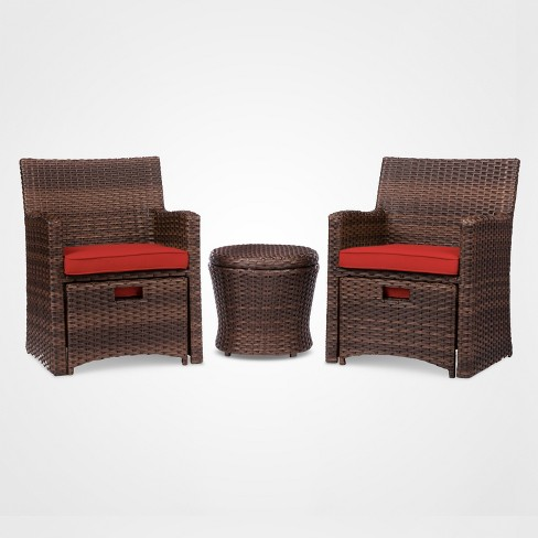 Halsted 5pc Wicker Small Space Patio Furniture Set - Threshold .