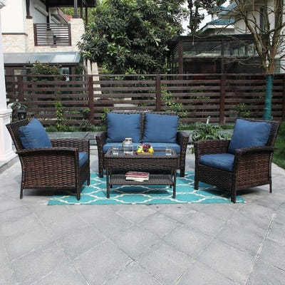 Blue, Wicker Patio Furniture | Find Great Outdoor Seating & Dining .