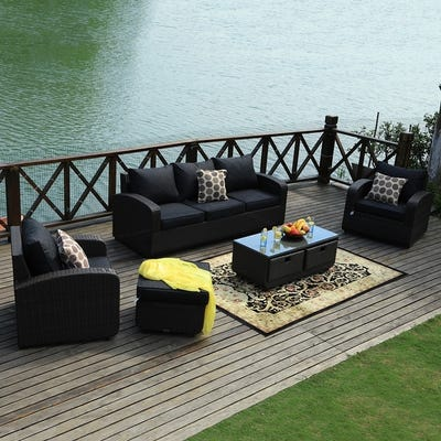 Black, Wicker Patio Furniture | Find Great Outdoor Seating .