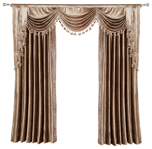 Luxurious Window Curtain, Velvet Rocks - Victorian - Curtains - by .