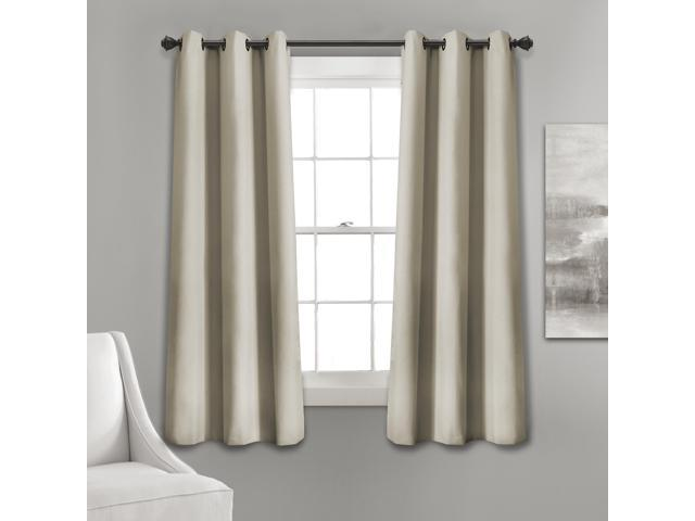 "Lush Decor Absolute Blackout Window Curtain Panel Pair, 63"" x 38 ."