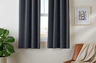 Amazon.com: AmazonBasics Room Darkening Blackout Window Curtains .