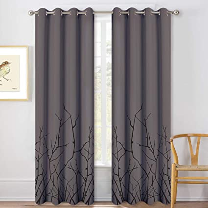 Amazon.com: KGORGE Thermal Insulated Blackout Curtains - W52 x L84 .