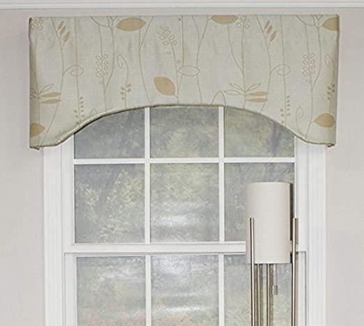 Amazon.com: RLF HOME Mist Aquarelles Arch Window Dressings Valance .