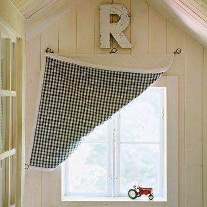 Window Dressings | Small window curtains, Bathroom window dressing .