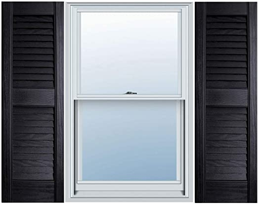 "Amazon.com: 12"" x 51"" Builders Choice Vinyl Open Louver Window ."