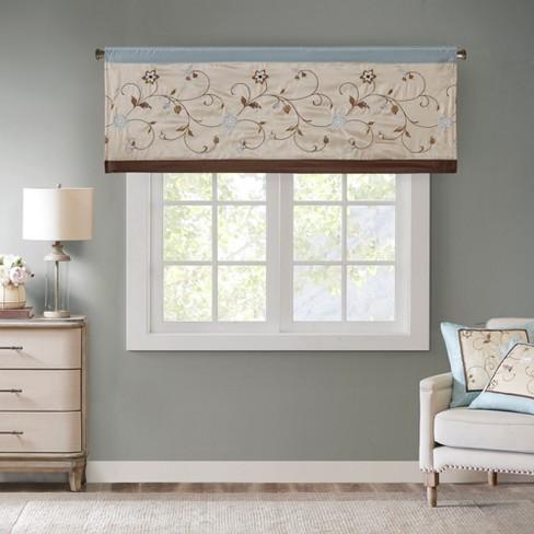 "50x18"" Monroe Embroidered Window Valance : Targ"