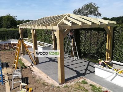 3m x 6m WoodMines Regal Garden Wooden Gazebo Frame. Hot Tub Gazebo .